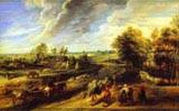 return of the peasants from the fields 1632 1634 XX florence italy